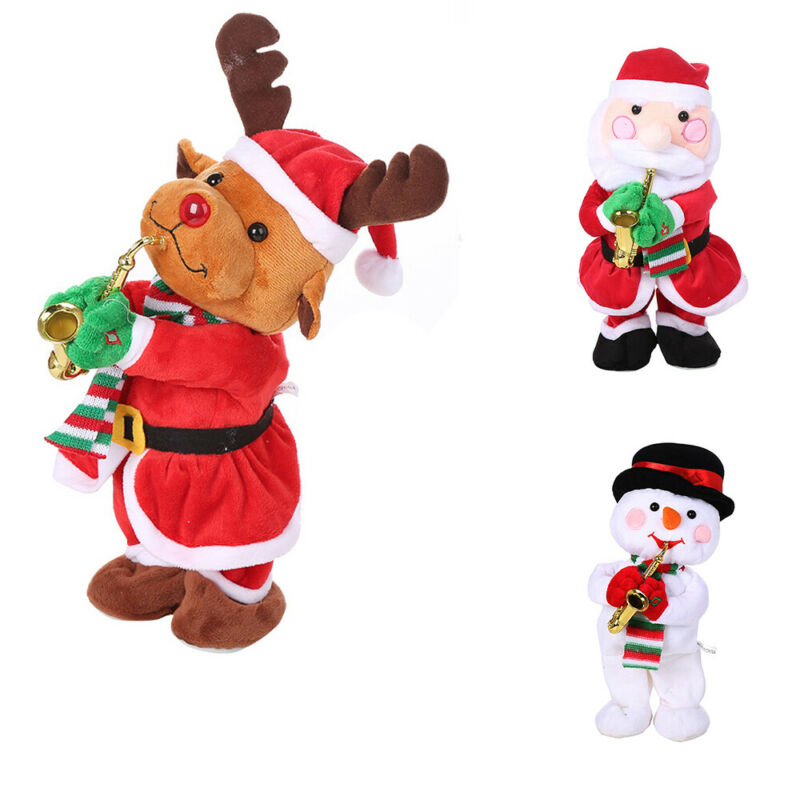 New Merry Christmas Ornaments Toy Christmas Gift Singing Dancing Twisted Body Christmas Songs Santa Claus Snowman Cute Xmas Toy image