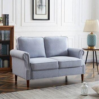 Velvet Fabric Love Seat  1