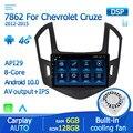 Автомагнитола 2 din, мультимедийный видеоплеер с IPS-экраном, GPS, Android 10 для Chevrolet Cruze J300 J308 2012-2015, DVD