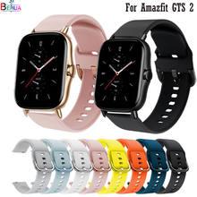 Correa de silicona para reloj inteligente Xiaomi Amazfit GTS 2, correa de silicona Original de 20mm para reloj inteligente Xiaomi Amazfit Bip S