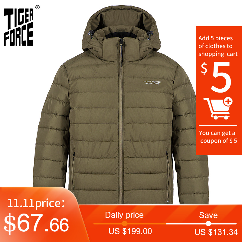 MENS PARKA PARKER PADDED LINED WINTER JACKET FAUX FUR HOODED COAT NEW S-2XL 4CLR