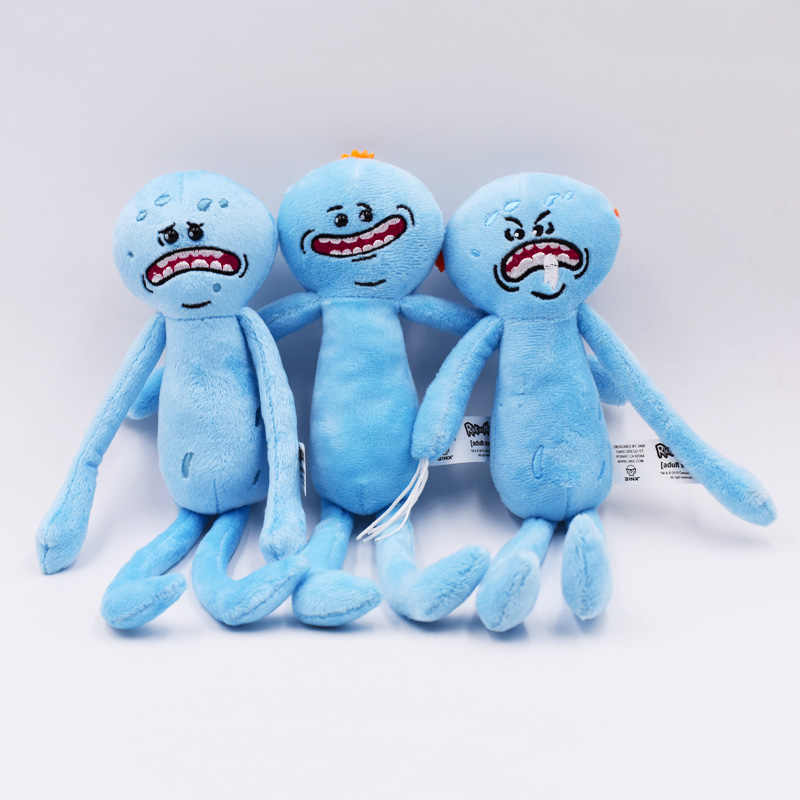 "3 estilos de juguetes calientes 10 ""25 cm Rick y Morty peluche juguete de peluche Rick Sanchez Morty Smith Mr Meeseeks Happy Sad Scientist muñeco de peluche"