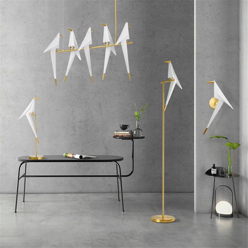 Modern Nordic Bird LED Pendant Light Lighting LOFT Bar Cafe Personality Decor Modern Pendant Lamps Hanging Lamp Kitchen Fixtures