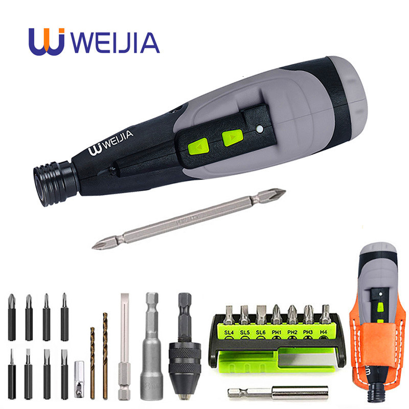 Electric Screwdriver Cordless Mini Drill 3.6V Lithium Battery Manual And Electric Usb Power Tool Charging LED Light For HOME DIY