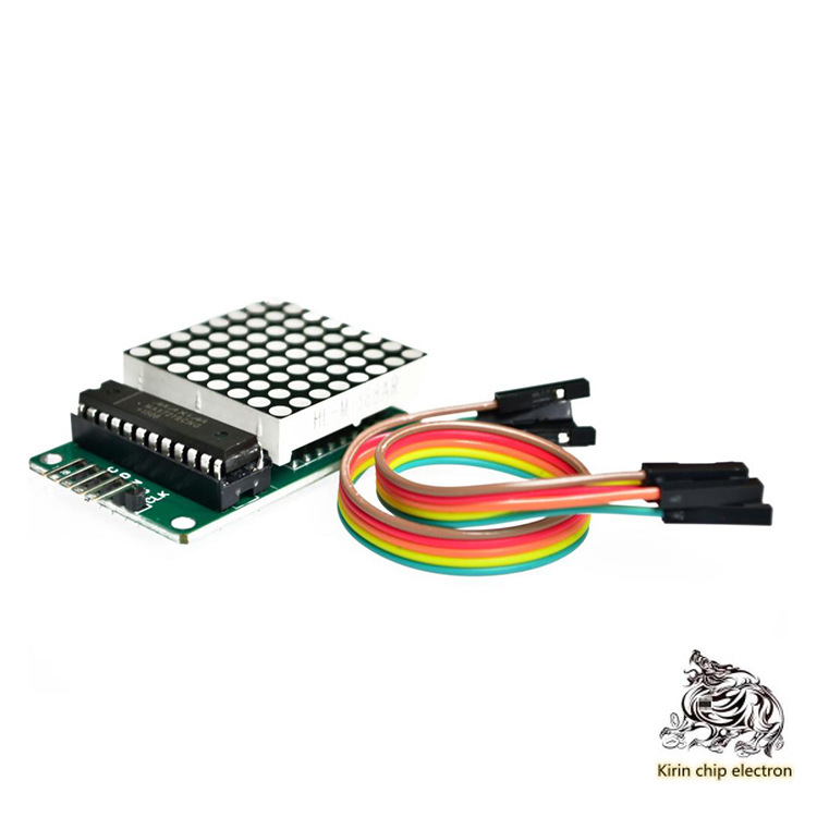 2pcs/lot MAX7219 Dot Matrix Module Control Module MCU Module Display Module Wire Feed