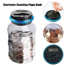 1.8L Euro Piggy Bank Counter Coin Electronic Digital LCD Counting Coin Money Saving Box Jar Coins Storage Box EURO Money Deposit