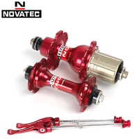 Novatec A271SB F372SB bearing Hub Road Bicycle Hubs 7/8/9/10 Speed front 20 holes/ rear 24 holes with skewers Bike Parts