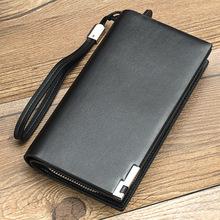 Portfel męski portfele męskie-wysokiej jakości skórzane portfele męskie etui na karty długie portfele męskie zamki błyskawiczne marki torebka tanie tanio GENUINE LEATHER Skóra bydlęca CN (pochodzenie) long 0 22 POLIESTER 11inch Stałe Biznes Kieszonka na telefo Kieszeń na suwak