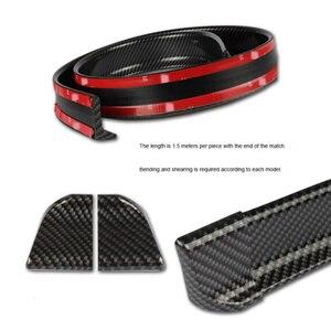 1.5M Auto-Styling 5D Koolstofvezel Spoilers Diy Refit Spoiler Voor Volkswagen Vw Golf 4 6 7 Gti tiguan Passat B5 B6 Jetta MK5 Polo