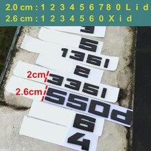 DIY Car Trunk Badge for BMW M M1 M2 M3 M4 M5 M6 X1M X2M X3M X4M X5M X6M M550d M50i M135i M240i M335d Emblem Sticker Matte Black