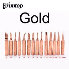10 قطعة/الوحدة النحاس الذهبي 900M T لحام الحديد تلميح ل هاكو 936 Eruntop 8586 محطة لحام إعادة العمل لحام نصائح