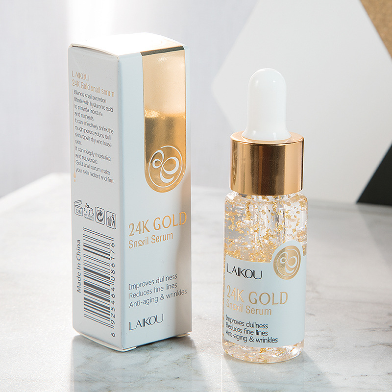 1/2 Pc 24K Gold Snail Essence Anti Wrinkle Anti Aging Essence Liquid Deep Moisturizing Whitening Snail Face Serum TSLM1