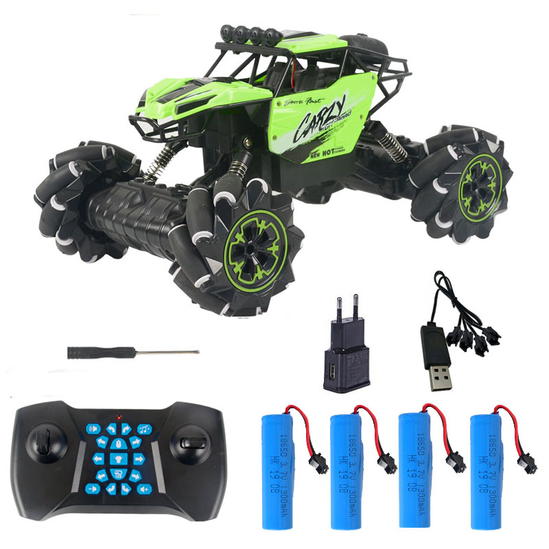 1/16 <font><b>RC</b></font> Car 2.4GHz 4WD New Technology <font><b>Rc</b></font> Car Off-road Music Remote Control Car Stunt <font><b>Drift</b></font> Climbing Car Toys for Children Gifts image