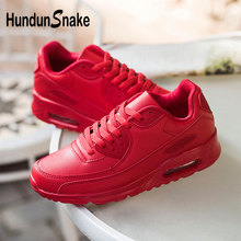 Hundunsnake Leather Zapatillas De Hombre Air Cushion Men Shoes Sneakers Red Wome