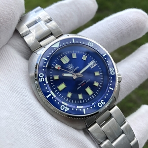 Image 4 - Steel Dive Abalone Dive Watch 200M Waterproof automatic watch men Sapphire Crystal Stainless Steel NH35 Automatic Mechanical Men