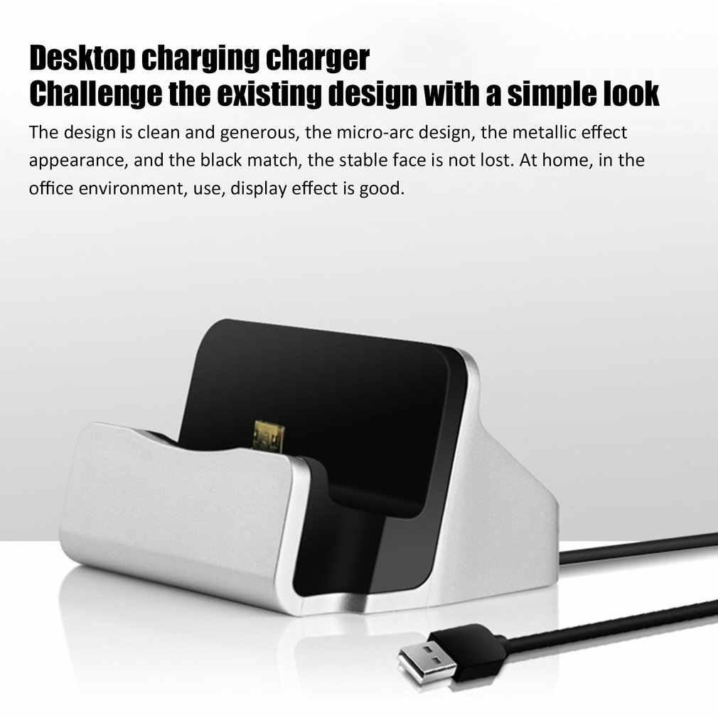 Đa Năng USB 3.1 Loại C Đồng Bộ Đế Sạc W/Cáp Dành Cho Nhiều Điện Thoại Loại C Đứng đồng Bộ Dữ Liệu Sạc
