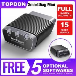 Bluetooth OBD2 Scanner TOPDON Smartdiag Mini Full System Diagnostic Tool Code Reader PK Easydiag Thinkdiag mini Automotive Tool
