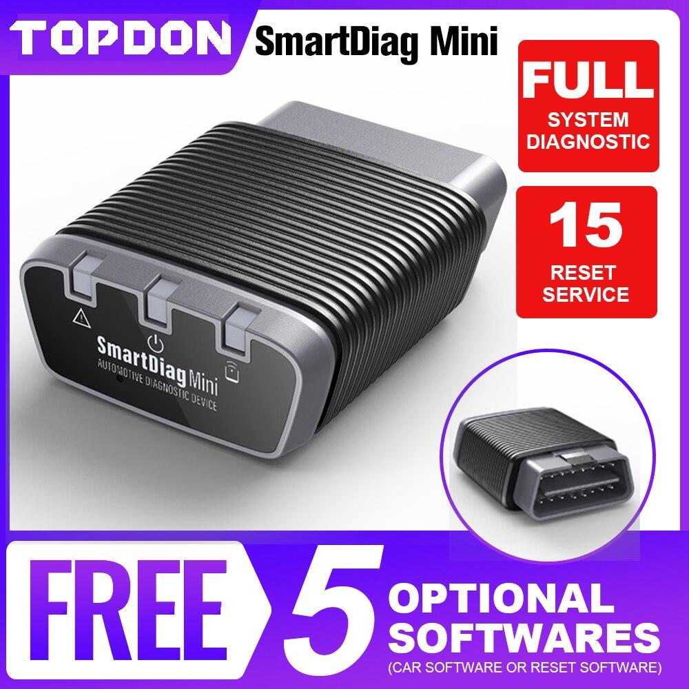 TOPDON Smartdiag Мини Bluetooth OBD2 сканер диагностический инструмент считыватель кодов Easydiag OBD Автомобильный инструмент, как THINKCAR Mini