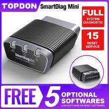 TOPDON Smartdiag بلوتوث صغير OBD2 الماسح الضوئي أداة تشخيص رمز القارئ Easydiag OBD أداة ذاتية الحركة كما THINKCAR Thinkdiag Mini