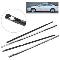 FL FR RL RR Chrome Outside Window Moulding Weatherstrip Weather Strip Fit For Accord 2003 2004 2005 2006 2007|Styling Mouldings| |  -