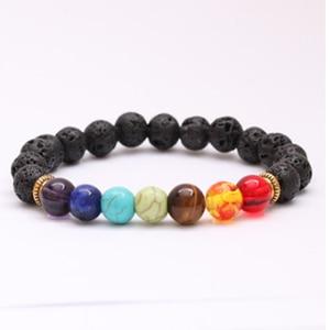 Image 4 - OAIITE Trendy 7 Chakra Round Beaded Natural Stone Bracelet  For Women Men Healing Balance Therapy Yoga Jewelry Prayer Adjustable