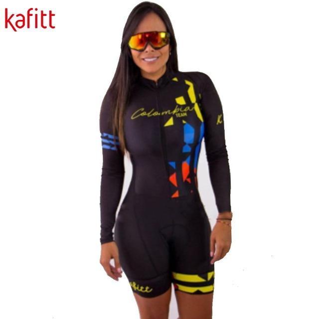 Equipe de Triathlon kafitt Radfahren jersey define Uniforme Anzug frauen Langarm Bademode Mujer Ropa ciclismo Skinsuit Geral Trisuit 4
