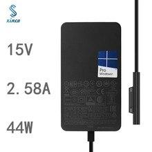 Novo 15v 2.58a para microsoft nova superfície pro5 \ 6 portátil adaptador de energia 1800 1796 44w carregador