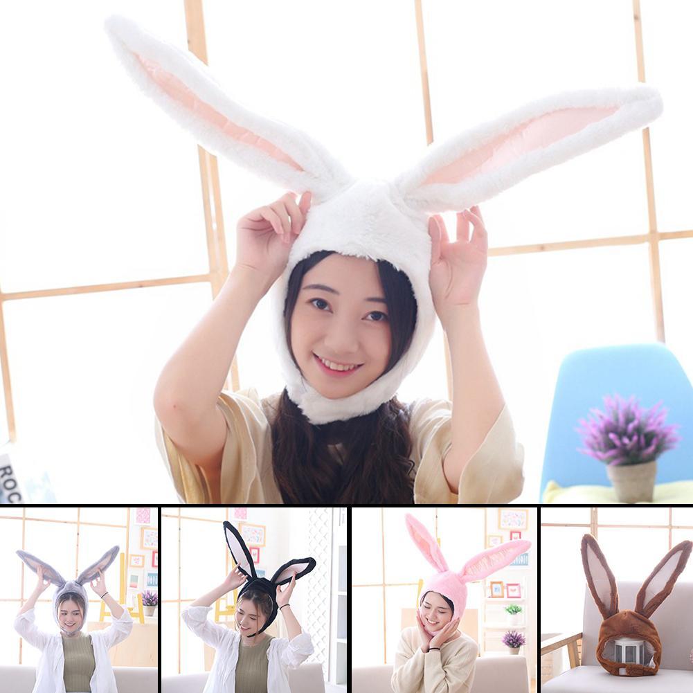 Cute Girls Hat Plush Rabbit Bunny Ears Hat Earflap Cap Head Warmer Photo Supplies Hat with earflaps bunny hat Headgear Hats