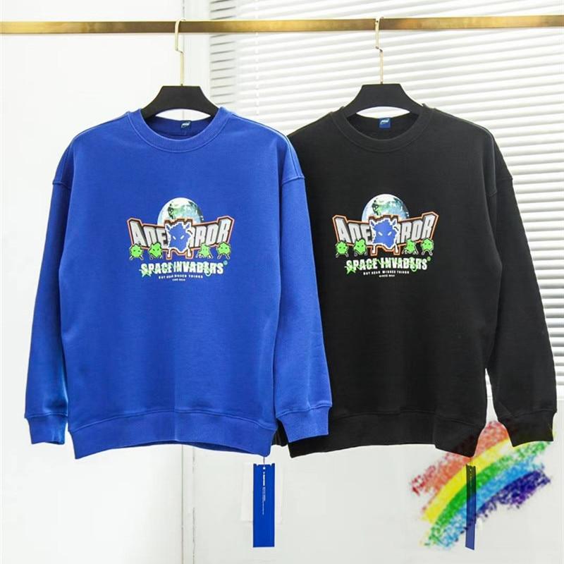 Thick Oversize Ader Error Sweatshirts Streetwear Couples Adererror Hoodie Crewneck Men Women