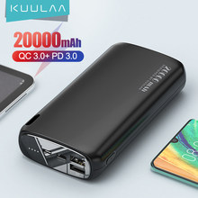 Kuulaa power bank 20000 mah poverbank de carregamento portátil do telefone móvel carregador de bateria externa powerbank 20000 mah para xiaomi mi