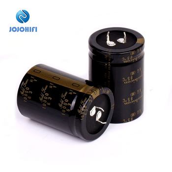 Nichicon Type I KG Gold Tune 10000UF 63V 35x50mm Pitch 10mm Audio Electrolytic Capacitor Gold-plated Copper Feet image