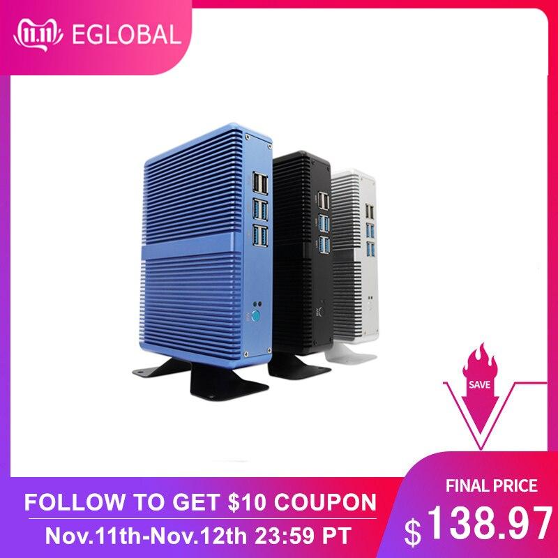 EGLOBAL Fanless Mini PC Intel i5 7200U i3 7100U DDR4 DDR3 Nuc Computer Linux Windows 10 Pro 1*mSATA 1*2.5''SATA 4K HTPC HDMI VGA-in Mini PC from Computer & Office