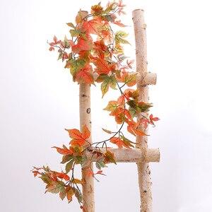 Image 2 - 180cm Künstliche Kunststoff Pflanzen Ivy Maple leaf garland baum Gefälschte Herbst blätter Rattan Hängenden Reben für Hochzeit Hause Wand decor