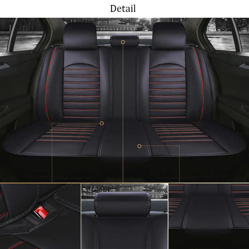 Funda de asiento de coche de piel sintética para Mercedes Benz M Class Ml 350 Ml320 W163 W164 W166 Gle GLE43 GLE63 GLE63S