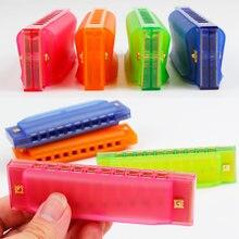 2 шт Детские Красочные губные гармошки с пластиковой коробкой/Дети