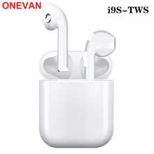 New i9s Tws headset wireless Bluetooth 5.0 mini earbuds with microphone charging box for iphone Samsung Huawei
