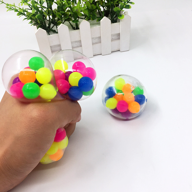 Fidget Toys 7cm Colorful Soft Foam TPR Squeeze Balls Toys for Kids Children Adults Stress img2