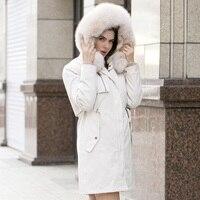 women winter large fur hooded parkas 2020 white winter jacket women natural fur lined thick coat women oversize
