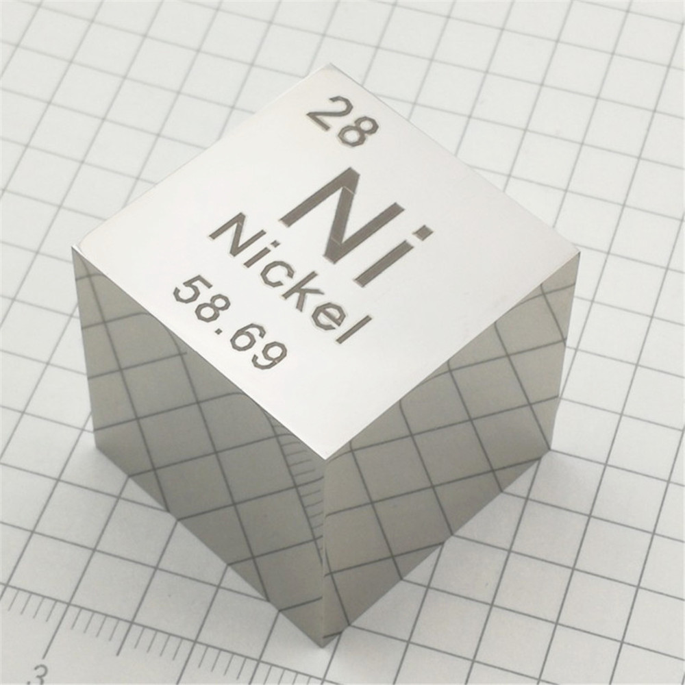 Nickel Polished Cube 1Inch Ni Mirror Shining Currency Coin Metal Element Collection Science Experiment Density Development 25MM