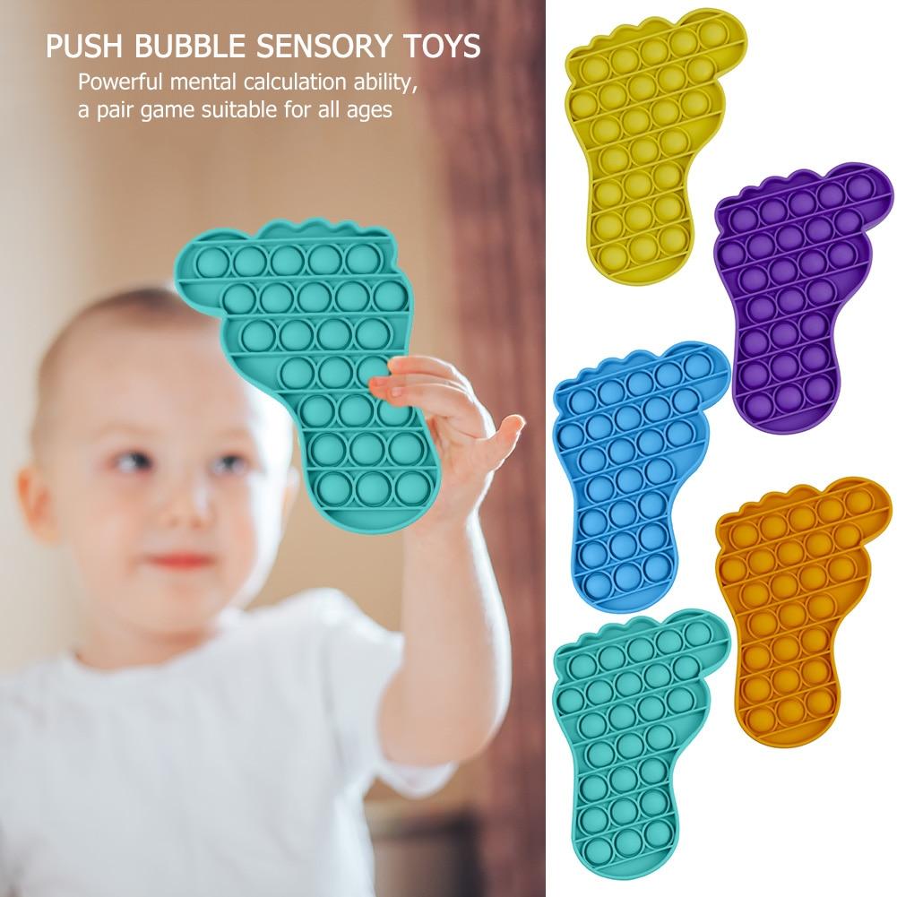 Nouveau poussoir bulle Fidget Antistress jouets adultes enfants licorne Pop Fidget It jouet sensoriel autisme besoins spéciaux anti-Stress