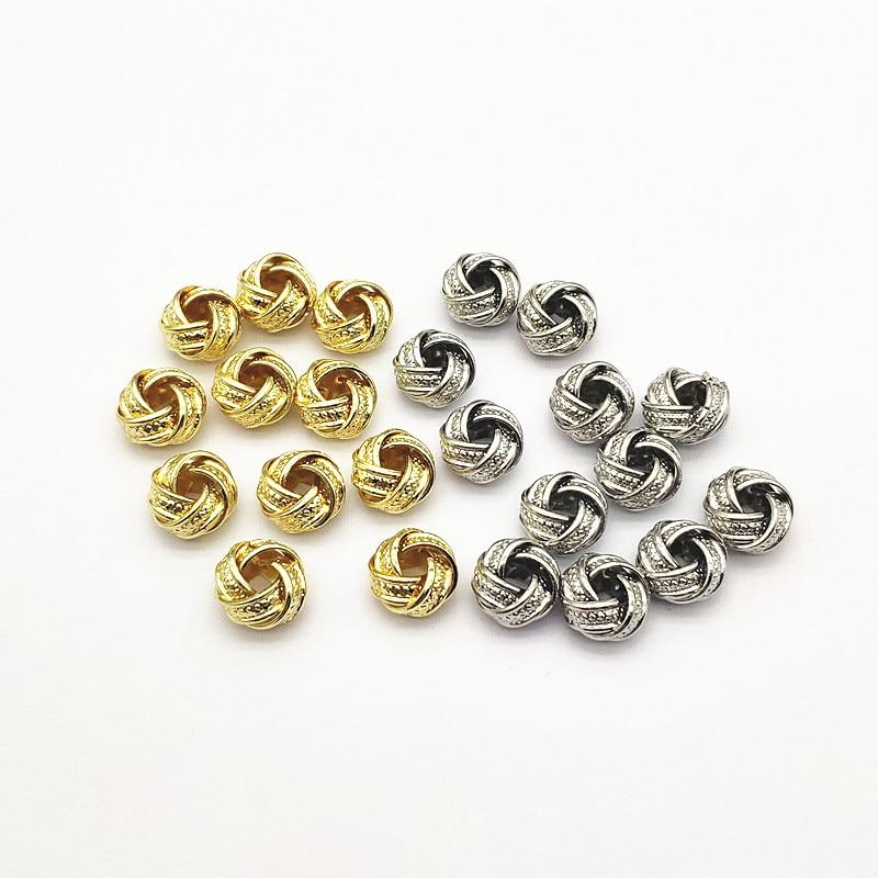 Новое поступление! 12 мм 100 шт нерегулярные витой шарики прокладки/разъемы для ручной работы, ювелирные серьги Комплектующие для самостоятел...