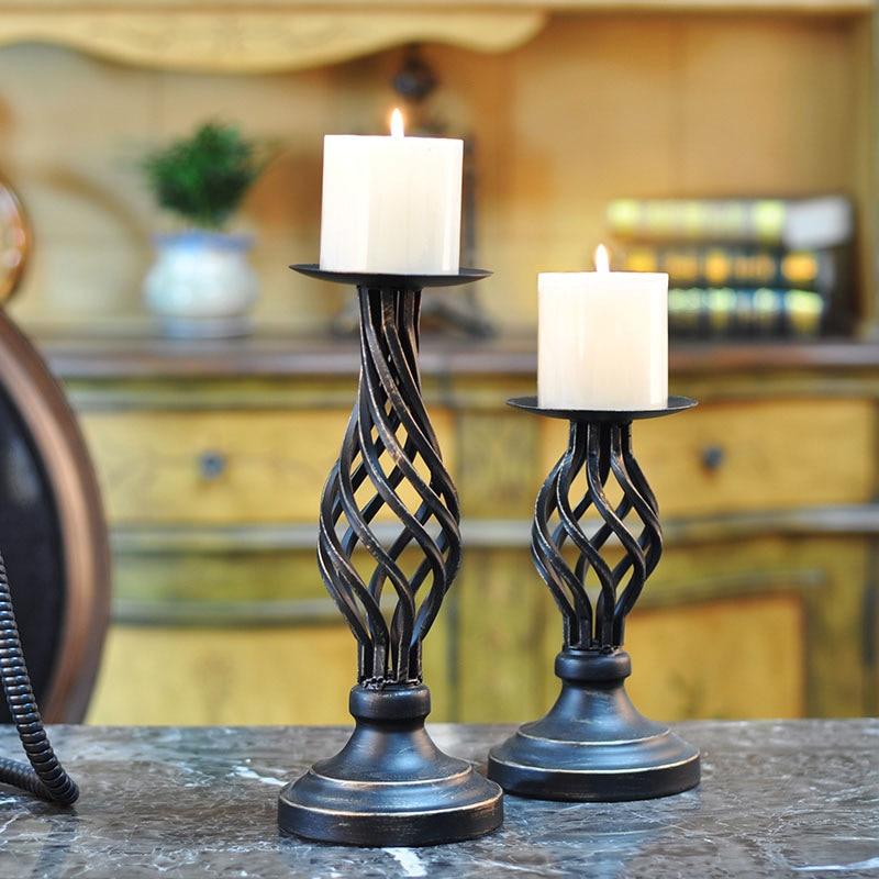 Ретро декоративный подсвечник, кантри, полый подсвечник, свадебный подсвечник при свечах, праздничный реквизит, украшение для дома WJ101712