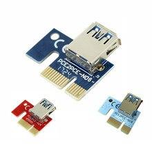Pcie 1x to16x pci-e 1x para usb para placa de vídeo expandir a linha de mineração pci-e extensão placa de cartão pequeno