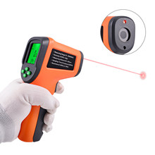 FOSHIO Car Motorcycle Digital Tachometer Non-Contact Photoelectric Speed Measurement Wind Power Gauge RPM Speedometer Instrument