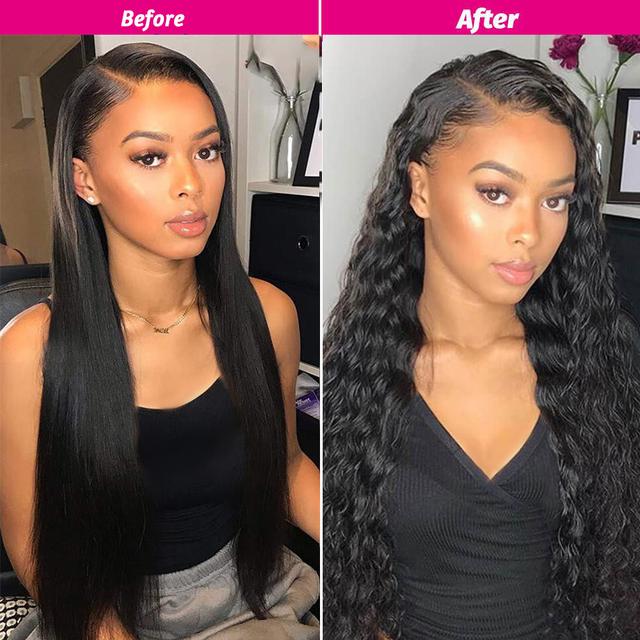 Ali Grace Wigs Wet And Wavy Human Hair Wigs 16inch Short Lace Front Human Hair Wigs Remy Lace Front Wigs For Black Women