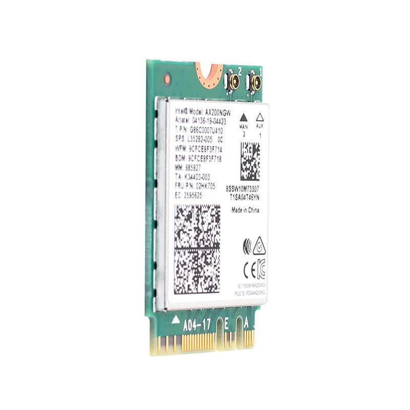 Dwuzakresowy bezprzewodowy karta sieciowa Wi-Fi 2974 mb/s 6 AX200NGW NGFF M.2 Wifi Bluetooth 5.0 z wbudowaną anteną NGFF MHF4