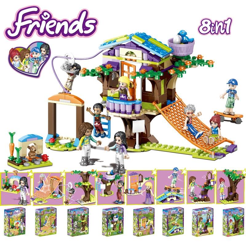 Camp Tree House Friends Series Set Emma Stephanie Mia Olivia Andrea Building Block Toys Girls