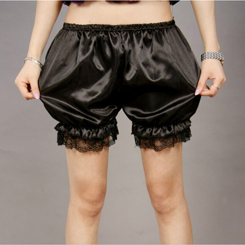Summer Street Casual Women Short Pants Women All-match Loose Shorts Soft Lace Crochet Pumpkin Bubble Lantern Shorts
