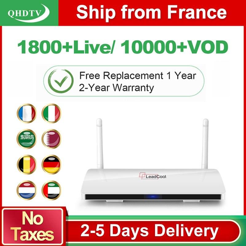 Leadcool QHDTV arabe France IPTV 1 an abonnement IPTV Android Rk3229 QHDTV Code IPTV belgique pays-bas France IP TV Box