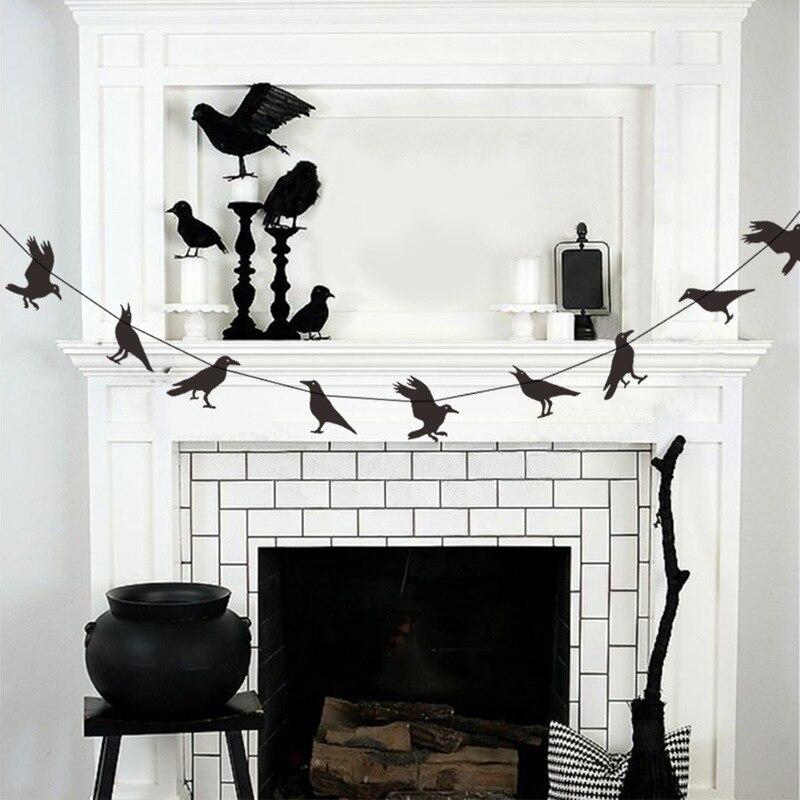 Ménage corbeau suspendus décoration Halloween corbeau décoration noir fête fournitures